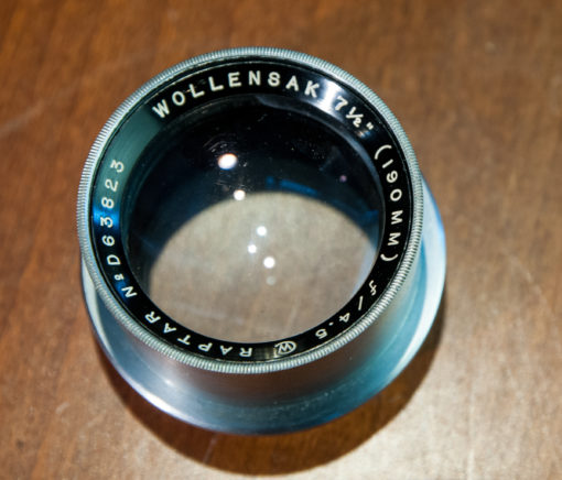 Wollensak Raptar 190mm F4.5 large format lens