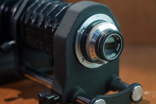 Macro Bellows setup for Nikon F with Will Wetzlar 75mm F4.5