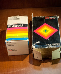Polaroid SX-70 Alpha Sonar + Polartronic flash