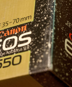 Canon 50th Anniversary box with original never used EOS650