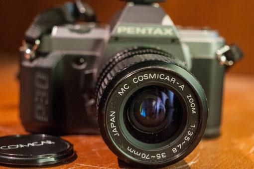 Pentax P30 + cosmicar 35-70mm + AF160S