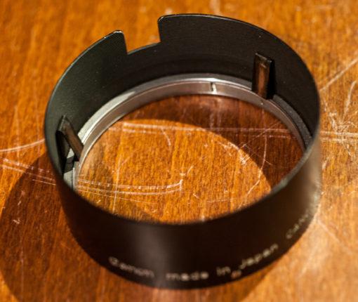 Canon Canonet lens hood Clip on
