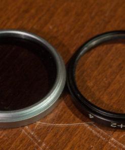 B&W 43mm Filter ND4x & Nahlinse close-up +2