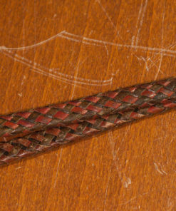Woven leather camera wrist strap (vintage 1950s)