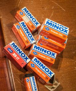 Agfa ISS / Adox KB17 Minox film boxes (no Film)