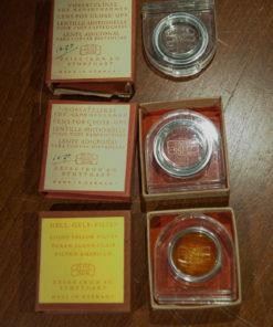 Set of 3 Zeiss Ikon Filters / vorsatzlinse / gelbfilter