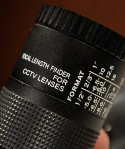 Focal length finder for CCTV Lenses