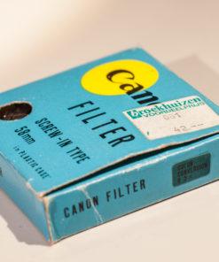 Canon 58mm Blue filter in original box