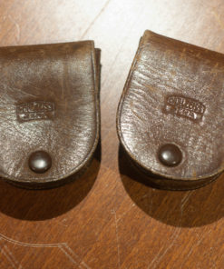 Carl Zeiss jena Filters in leather pouches / Distarlinse 3/IV / GelbGlasfilter IV