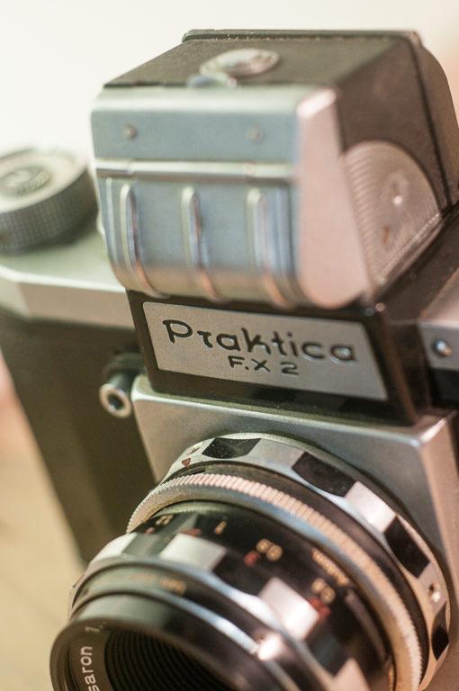 Praktica FX2 + Steinheil 50mm F2.8 + prism