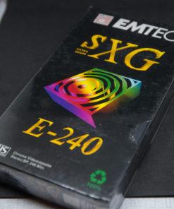 EMTEC SXG E-240min VHS tape factory sealed
