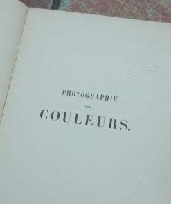 Photographie des couleurs - Alphonse Berget - 1891