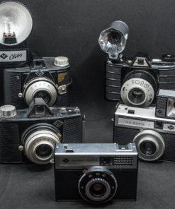 Lot bakelite cameras / Agfa + Fodor