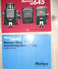 Manual Mamiya M645 (NL) + lens booklet (english)