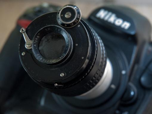 Vintage Bokeh Monster - ICA Periskop F1:11 - on helicoid and Nikon F-mount